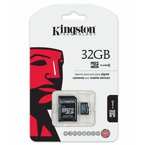 KINGSTON 32GB HIGH CAPACITY MEMORY CARD CLASS 10