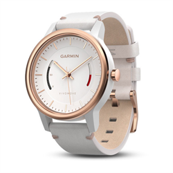 vivomove Classic, Rose Gold-tone with Leather Band, WW (English-only packaging)