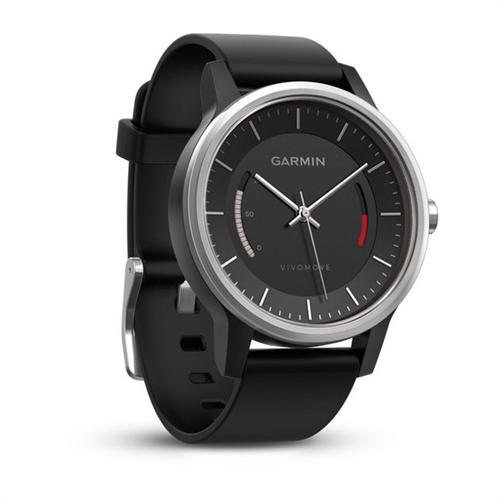 GARMIN - vivomove  Sport, Black w/ Sport Band, WW (English-only packaging)