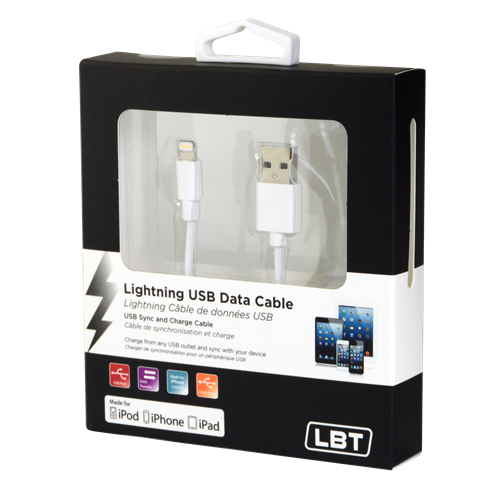 LBT APPLE APPROVED LIGHTNING USB DATA CABLE