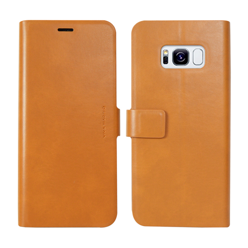 VIVA MADRID - Finura Cierre for Samsung Galaxy S8 ~ Folio Case, Brown