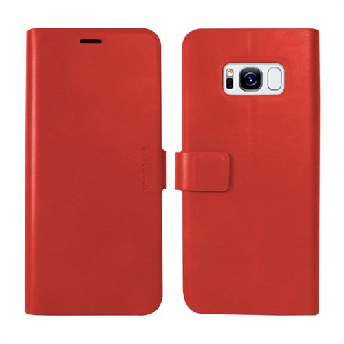VIVA MADRID - Finura Cierre for Samsung Galaxy S8 ~ Folio Case, Red