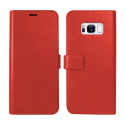 VIVA MADRID - Finura Cierre for Samsung Galaxy S8 ~ Folio Case, Red