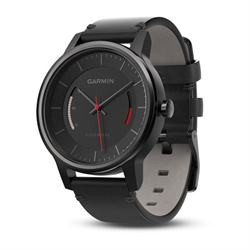 vivomove Classic, Black with Leather Band, WW (English-only packaging)