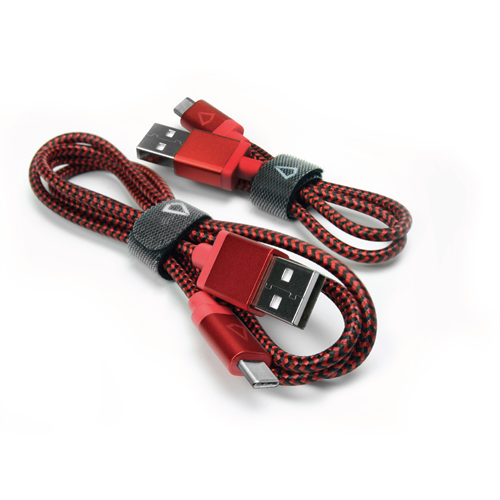 LBT 3+1 FEET USB-C BRAIDED CABLE RED/BLACK