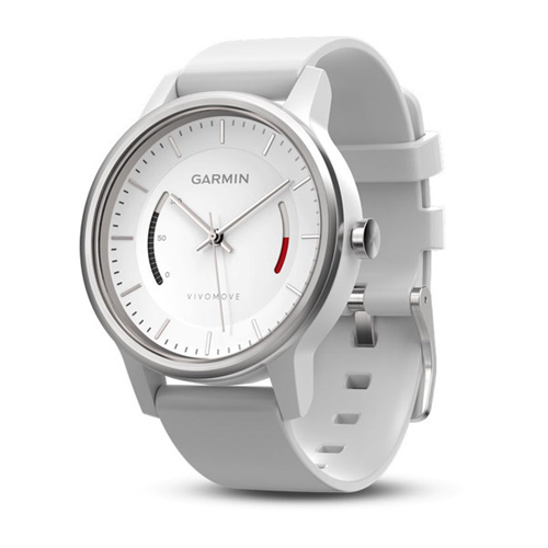 GARMIN - vivomove Sport, White w/ Sport Band, WW (English-only packaging)