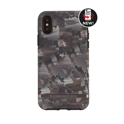 RICHMOND & FINCH FOR IPHONE X CAMOUFLAGE - BLACK DETAILS