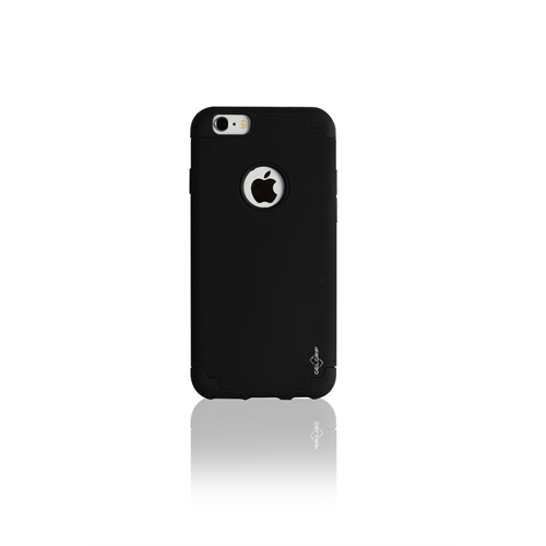 IPHONE 6/6S BLACK ON BLACK DUAL CASE INCLUDES TEMPERED GLASS