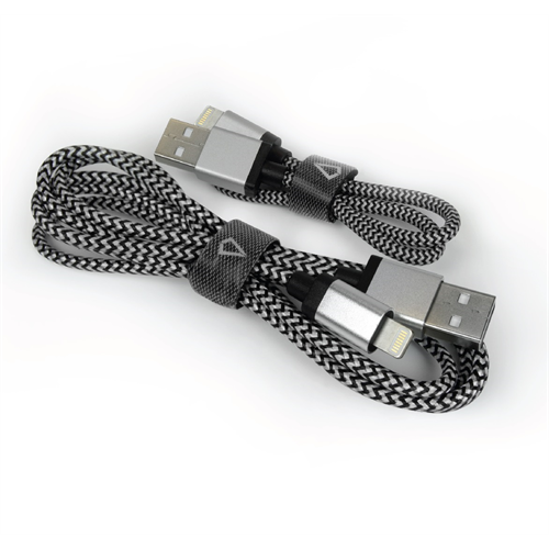 LBT 3+1 FEET LIGHTNING  BRAIDED CABLE BLACK/WHITE