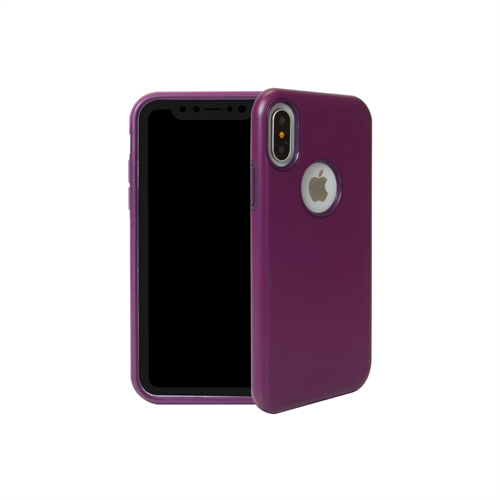 "LBT iPHONE X ""dualKase"" PURPLE ON DARK PURPLE"