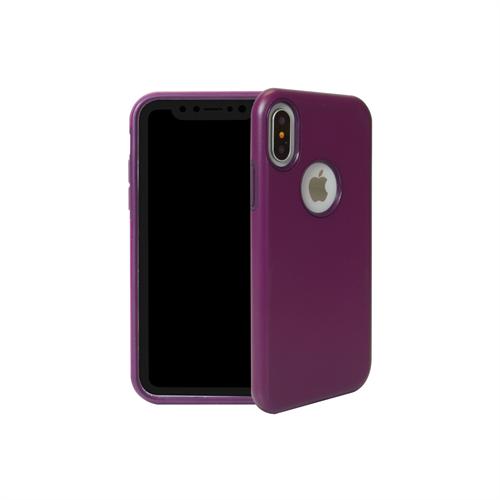 "LBT iPHONE X/Xs ""dualKase"" PURPLE ON DARK PURPLE"