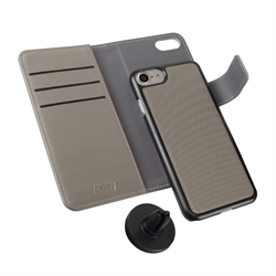 LBT IPHONE 7/6/6s SWITCH WALLET CASE CLOUD GREY WITH MAGNET VENT HOLDER