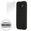 Additional Images for SAMSUNG S6 BLACK ON BLACK DUAL CASE INCLUDES TEMPERED GLASS