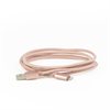 Additional Images for LBT 7 FEET MFI BRAIDED  ROSE GOLD  LIGHTNING CABLE W/ METAL CONNECTOR