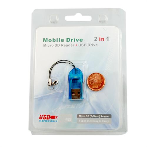 MICRO SD USB CARD READER (KEYCHAIN STYLE)