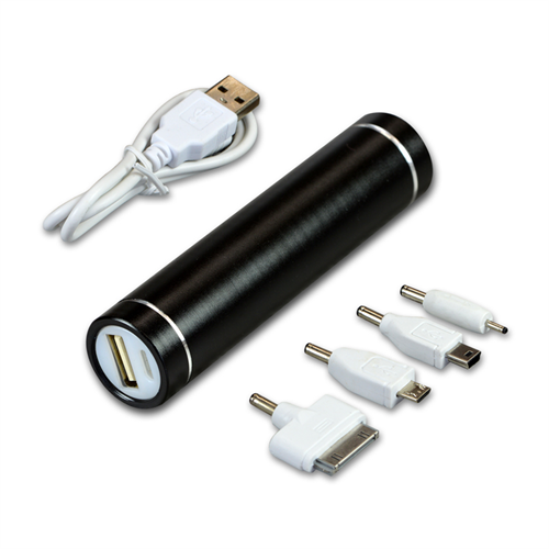 BLACK POWER BANK TUBE 2600 MAH