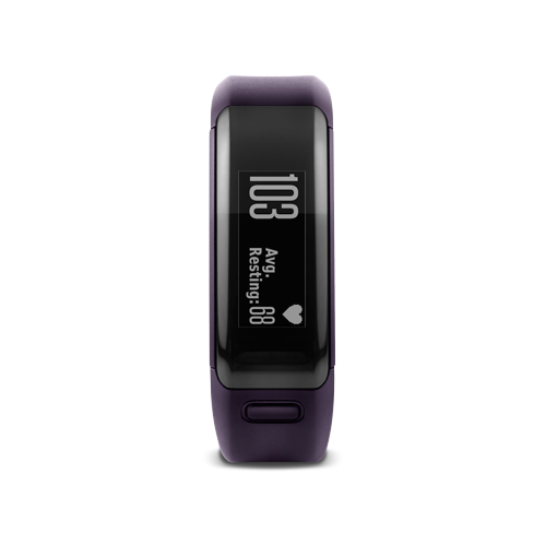 GARMIN - vivosmart® HR Regular fit - Imperial Purple (Translated packaging)