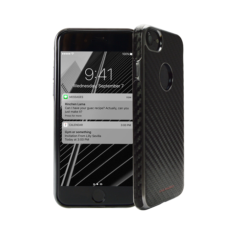 VIVA MADRID - Mirada Carbono for iPhone 7 ~ Back Case, Black