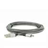 Additional Images for LBT 7 FEET MICRO USB CABLE BLACK WHITE W/METAL CONNECTOR