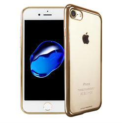 VIVA MADRID - Metalico Flex for iPhone 7 ~ Back Case, Champagne Gold