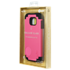 Additional Images for SAMSUNG S6 BLACK ON PINK DUAL CASE INCLUDES TEMPERED GLASS