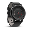 Additional Images for GARMIN - vivomove Classic, Black w/ Leather Band, WW (English-only packaging)