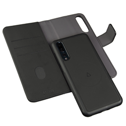 LBT HUAWEI P20 PRO SWITCH WALLET CASE CARBON BLACK WITH MAGNET VENT HOLDER