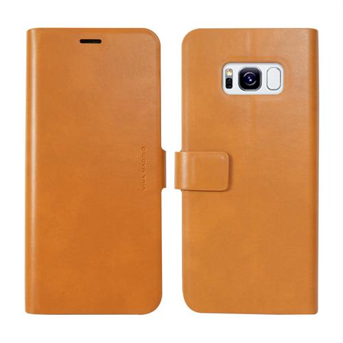 VIVA MADRID - Finura Cierre for Samsung Galaxy S8 ~ Folio Case, Brown