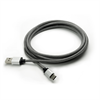 Additional Images for LBT 7 FEET USB A TO TYPE C BLACK/WHITE  BRAIDED CABLE W/ METAL CONNECTOR