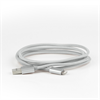 Additional Images for LBT 7 FEET MFI BRAIDED GREY LIGHTNING CABLE W/ METAL CONNECTOR