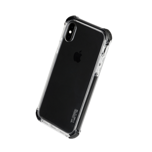 TUFF 8 BACK CASE WITH BLACK TRIM TRIPLE INJECTION FOR IPHONE X
