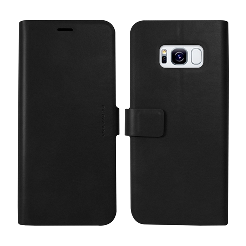 VIVA MADRID - Finura Cierre for Samsung Galaxy S8 ~ Folio Case, Black