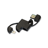 Additional Images for LIGHTNING ADAPTOR WITH USB DATA CABLE KEYCHAIN STYLE BLACK