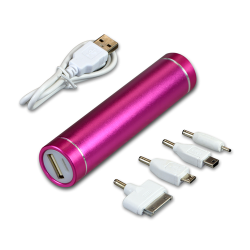PINK POWER BANK TUBE 2600 MAH