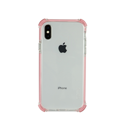 TUFF 8 BACK CASE WITH ROSE GOLD  TRIM TRIPLE INJECTION FOR IPHONE X/Xs