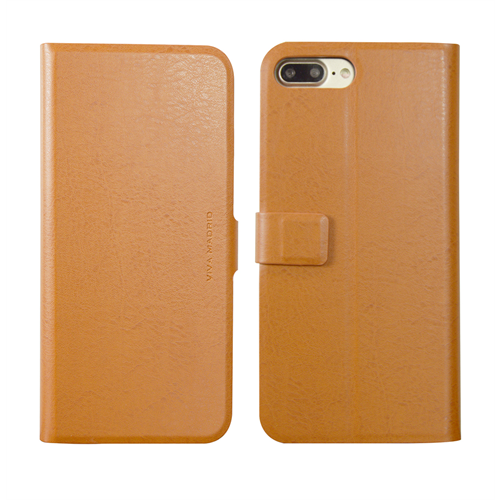 VIVA MADRID - Finura Cierre for iPhone 7/8 Plus ~ Folio Case, Cierre Brown